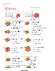 Surface Area Lecture Notes