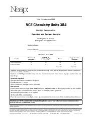 Chemistry Units 3&4 Questions Booklet 2014