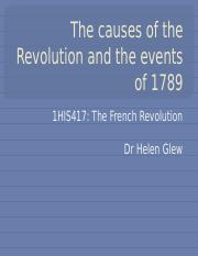 The French Revolution Lecture Week 2 Slides
