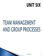 UNIT 6 TEAM NANAGEMENT.ppt