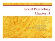 Ch 14 Notes Social Psychology