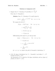 MATH 151 Fall 2014 Assignment 16 Solutions