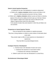 Dweck's Social Cognitive Perspective notes