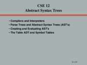 16 Abstract Syntax Trees