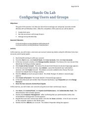 1.Hands-On Lab - Users and Groups.doc