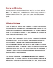 Energy and Enthalpy