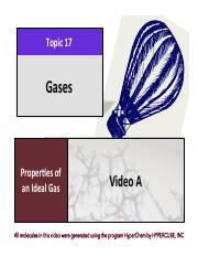 CHEM 102 Lecture Presentation Chapter 17 - Gases and Ideal Gas Law