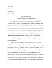 coach k successful leadership leading the heart by mike  6 pages coach k essay