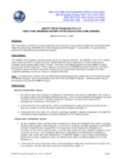DWSRF Short-Term Financing Policy-11-9-09