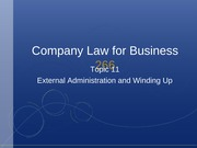 Topic 11- External Administration and Winding Up(2)