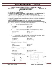 (www.entrance-exam.net)-IETE AMIETE -ET (New Scheme) Wireless and Mobile Communication Sample Paper
