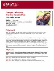 Shanquilla Thomas Success Plan Assignment 3.docx