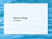Notes-Research Design