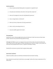 PHY2032- Practice questions for Metabolism