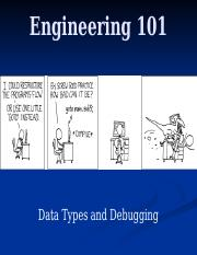 11 - Data Types and Debugging