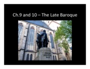 Ch.9- the Late Baroque