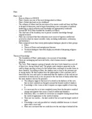 History of Philosophy-Plato Study Guide