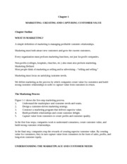 Marketing 100 Chapter 1  Marketing Outline