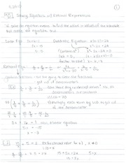 7.5, Solving Rational Equations