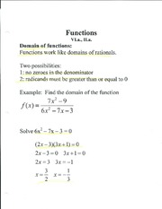Domain of Functions Chapter 6