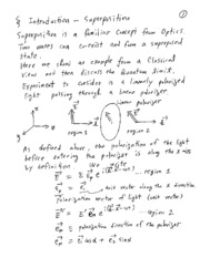 Lecture note1 - Superposition