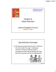 Chapter 8 Infant Nutrition part 1