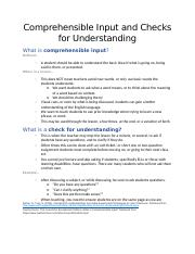 BP-Comprehensible Input and Checks for Understanding.docx