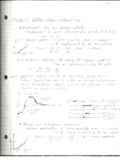 PHY2048 Physics 1, Chapter 2 Straight Motion Notes