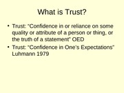 Trust Lecture