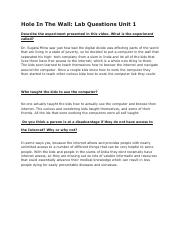 Hole in the wall_ Lab Questions Unit 1.pdf