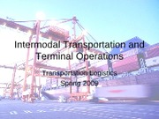 Intermodal Transportation and Terminal Operations given