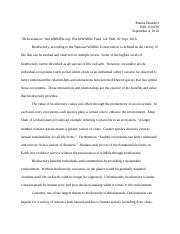 Essay biodiversity