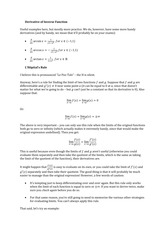 Lecture Material Derivative of Inverse Function