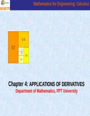 Chapter 4_Applications Of Derivatives.ppt