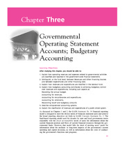 Chapter 3  Governmental Operating Statement Accounts; Budgetary Accounting