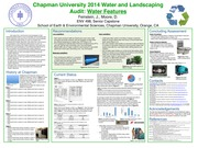 ENV 498 - Environmental Problem Solving- Senior Capstone and Seminar - Water and Landscaping Poster