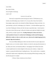 romeo and juliet persuasive essay grammerdocx  bryshaun guy kelly   pages ar honors english unit  persuasive essayromeo and juliet lessons
