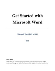 10.1 Tables in Microsoft Word