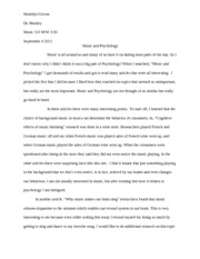 music and psychology essay