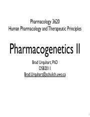 Topic 7 - Pharmacogenetics II