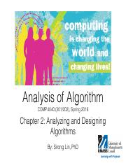 Chapter02-LIN-AnalyzingDesigningAlgirthms