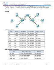 6.2.3.8 Packet Tracer - Troubleshooting a VLAN Implementation - Scenario 2 Instructions.docx