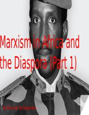 Marxism in Africa and the Diaspora (Part 1)