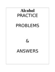Alcohol practice problems