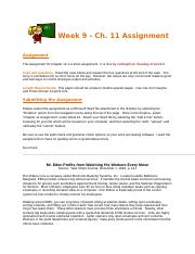 Assignment - CH 11-1 BMGT 335-800.doc