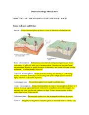 chapter 8 Physical Geology Study Guide