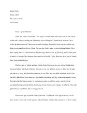 types of friends essay