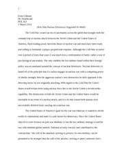 Military Strategy Position Paper 1