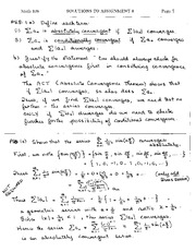 Math 138, Assignment 8 Solutions