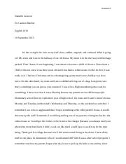 Reflextion paper for english 1010